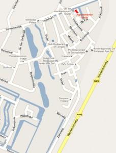 Kaart Route appartementen Moritz