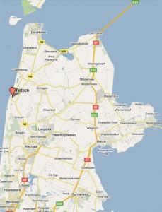 Kaart Nood-Holland
